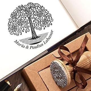 Timbri Personalizzati Matrimonio Albero della Vita Fiore Kraft Carta Scatole Regalo