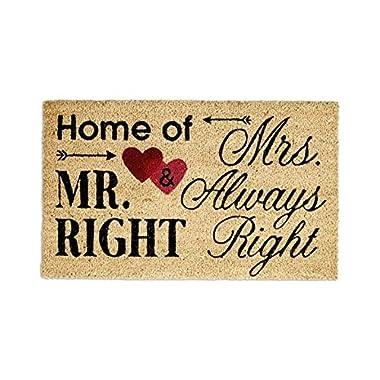 Design Imports Door Mats (Home of Mr. & Mrs.)