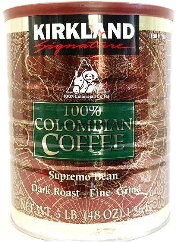 Kirkland 100% caf? de Colombia Konakan profundidad caf? regular asado finamente molido latas Taki 1.36kgX4