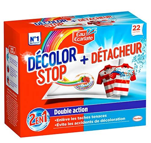 Décolor Stop 2en1 + Détacheur – 22 (Sachets) – Anti-décoloration Action détachante
