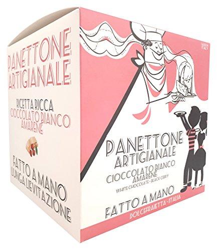 Dolcefraietta Panettone Cioccolato Bianco e Amarene - 1000 g