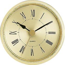 2-1/2 Gold Roman Clock Insert