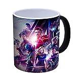 Générique Avengers Endgame - Iron Man, Thor, Captain America, Hulk à Changement de Couleur Mug à café de Chaleur réactive – 300ml