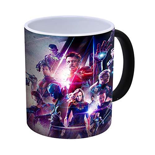 Generic Avengers Endgame - Iron Man, Thor, Captain America, Hulk Kaffeetasse mit Farbwechsel, wärmeempfindlich – 300ml