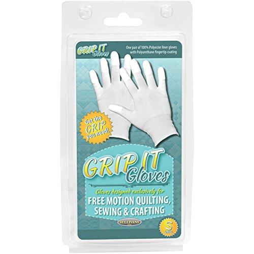 Sullivans Grip Handschuhe für kostenlose Motion Quilting klein, Acryl, Mehrfarbig, 2-teilig