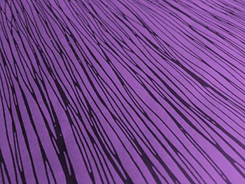 Spooky Black Lines on Purple Gothic Wrapping Paper - up to 8 Feet of Birthday Gift Wrap