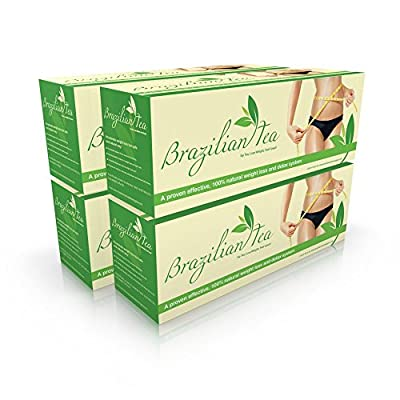 Brazilian Slimming Tea - Weight Loss Tea System for Fat Burning, Energy, Detox, Appetite Control, Bloating & Body Cleanse. Learn the Weight Loss Secret of Brazilian Models