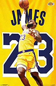 "Trends International NBA Los Angeles Lakers - Lebron James, 22.375"" x 34"", Premium Unframed"