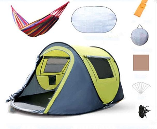 Extérieure Pop Up Tente familiale Bleu Ombre portative de Soleil pour la Plage Tente Trekking Camping,auvent,Prougeection Solaire Tente de Plage Anti-UV SUNYONGTAOTTS