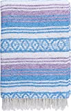 El Paso Designs Mexican Blanket Pastel Bloom Collection Yoga Classic Mexican Falsa Pattern Woven Acrylic 51in x 74in (5 Pack Assorted)