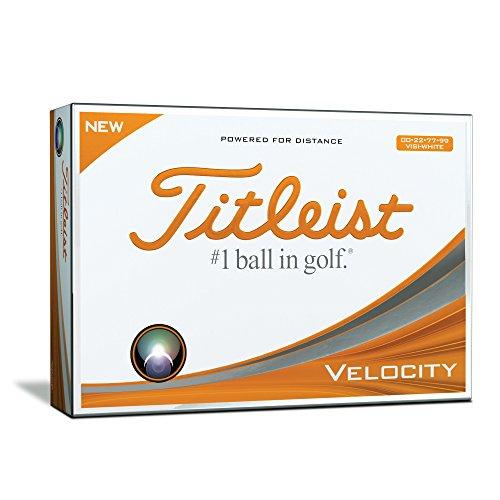 Titleist Velocity Visi Golfball, Herren, Weiß, Einheitsgröße
