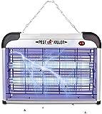 Mafiti Eléctrico Mata Mosquitos, 20W Trampa de Mosquitos con Luz UV, Mata Moscas, Mosquitos, Insectos, Polillas ect, Asesino de Insectos Silencioso para Uso Residencial y Comercial, en Interiores