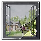 Gimars - Mosquitera magnética recortable para ventanas, 130 cm x 150 cm, lavable, protección contra insectos para ventanas de 130 cm x 150 cm o más pequeñas (color blanco)