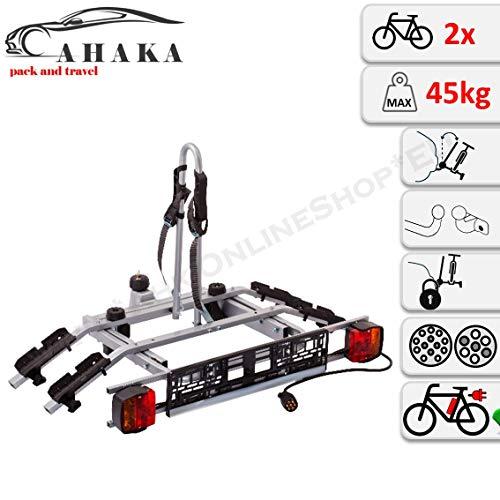 Fahrradträger Anhängerkupplung für 2 Fahrräder Heckträger AHK Fahrradheckträger