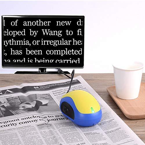 HLGQ Maus Digitale Lupen, Mit 2X-70X Vergrößerung/Bildaufnahmeeinrichtung Ist Eine Kleine Maus, Unterstützung TV Und USB-Ausgang, Gelb