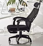 【iLooiLoo】ハイバックチェア メッシュ オフィスチェア ハイバック デスクチェア 腰痛椅子リクライニングチェア 多機能チェア ヘッドレスト ランバーサポート 腰サポート 事務用 勉強 椅子