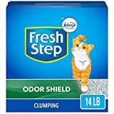 Fresh Step Odor Shield Scented Litter with the Power of Febreze, Clumping Cat Litter, 14 Pounds (Package May Vary)