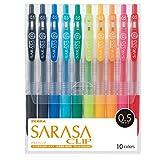 ゼブラ ジェルボールペン サラサクリップ 0.5 10色 JJ15-10CA