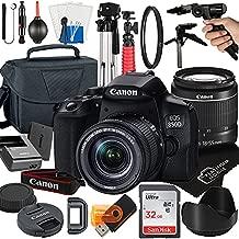 Canon EOS 850D / Rebel T8i DSLR Camera with 18-55mm Zoom Lens + Platinum Mobile Accessory Bundle Package Includes: SanDisk 32GB Card, Tripod, Case, Pistol Grip and More (21pc Bundle)