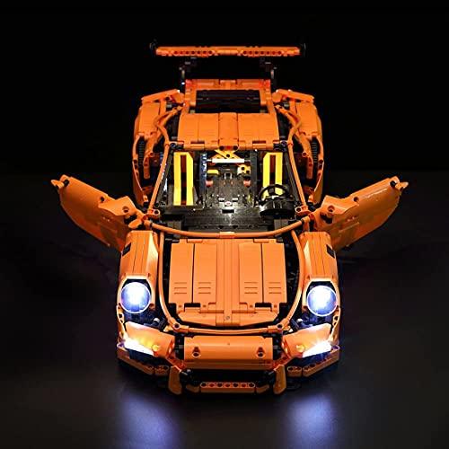 ADMLZQQ Conjunto de Luces Lightailing para (Technic Porsche 911 GT3) Modelo de Construcción de Bloques - Kit de luz LED Compatible con Lego 42056 Coche de Carreras(NO Incluido en el Modelo)