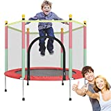 MZNTBW Trampolin 140 cm mit Netz Outdoor Minitrampolin Für Jumpsport Fitness Bis 200kg für Innen Garten Training für Aerobic Rebounds im Fitnessstudio für Kinder und Erwachsene