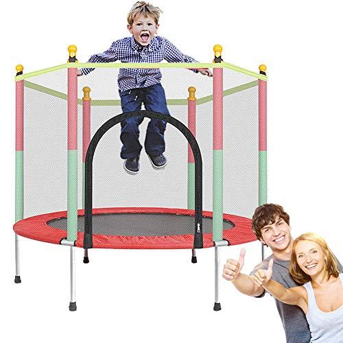 XTT Trampolin 140 cm mit Netz Outdoor Minitrampolin Für Jumpsport Fitness Bis 200kg für Innen Garten Training für Aerobic Rebounds im Fitnessstudio für Kinder und Erwachsene
