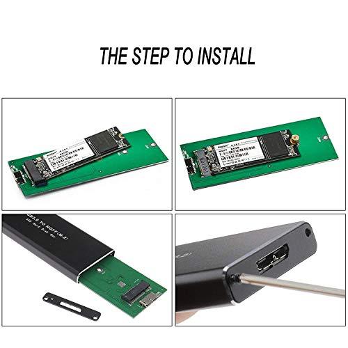 EasyULT Carcasa Externa para Discos Duros M.2 SATA a USB 3.0 SSD M ...
