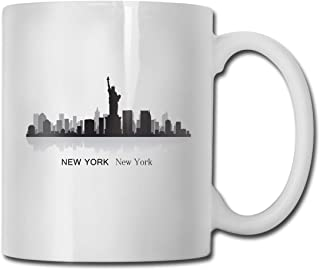 Porcelain Coffee Mug New York City Building Ceramic Cup Tea Brewing Cups for Home Office