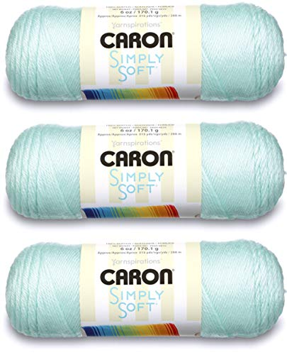 Caron CSS5638 Simply Pack of 3 Balls-170g Each Ball-Soft Green