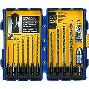 IRWIN Tools 4935643 Black Oxide Metal Index Drill Bit Set, 12pc