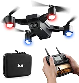 Hot 🔥 SMRC S20 RC Quadcopter 2.4GHz 1080P 120°Wide-Angle HD Camera 6-axis Helicopter Foldable Selfie Drone - Headless Mode,One Auto Return Key, Flying Around