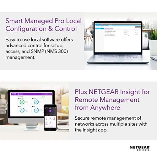 NETGEAR GS724TP 24 Port Gigabit Ethernet LAN PoE Switch Smart (Netzwerk Switch Managed mit 24x PoE+ 190W, 2x 1G-SFP, Desktop oder 19 Zoll Rack-Montage, ProSAFE Lifetime-Garantie)