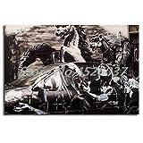 Poster Crazy Horse Attack Graffiti Street HD Leinwand