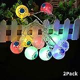 ChangSheng 2 Pcs Colorful Halloween String Lights,10 LED 4.9 ft Waterproof Eyeball Lights Lanterns