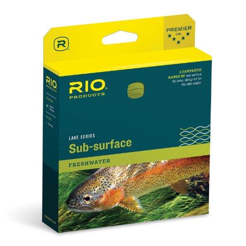 Rio - Fliegenschnüre in Transparente Spitze, Gelb, Größe 7 Weight
