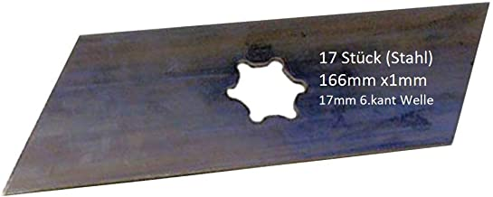 35-V 17 x Nachbau Vertikutiermesser passend für Kynast Vertikutierer 15-E-403