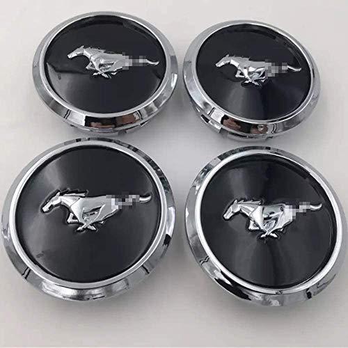 WJSWBX 4pz Coprimozzo Coprimozzi Auto Tappi Centrali per Ruote 68mm per Ford Mustang OEM Coprimozzo per Badge di Ricambio Copriruota Accessorio Decorativo