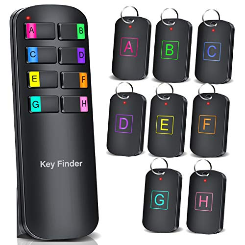 キーファインダー Key finder 忘れ物防止タグ キーホルダー 探し物発見器 落し物探知機 紛失防止タグ 子ども 見守り 音声メッセージ送信 迷子防止 アラーム の置き忘れ 鍵 電池交換版(電池8つ付き)