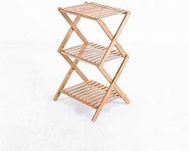 YIXINY Bloem Stand Bamboe Bloem Stand Vermijd Installatie Vouwen Opslagrek Binnen Huis Landing Bloemenpot Rack Multi-layer...