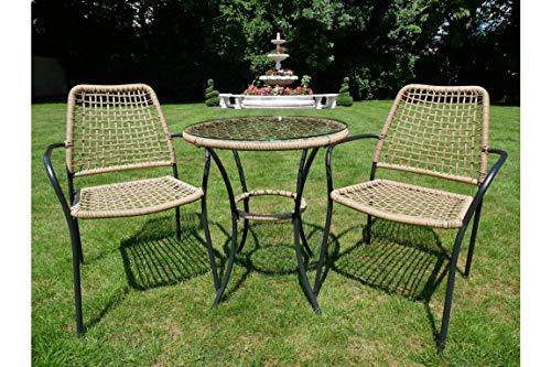 Evergreens Gifts Amalfi Tisch und 2 Stühle Gartenmöbel-Set