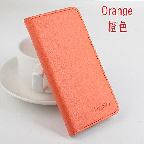 LingMao Easbuy Pu Leder Kunstleder Flip Cover Tasche Handyhülle Case Mit Karte Slot Design Hülle Etui für Umi Emax 5,5 Zoll Smartphone Handytasche Handyhülle