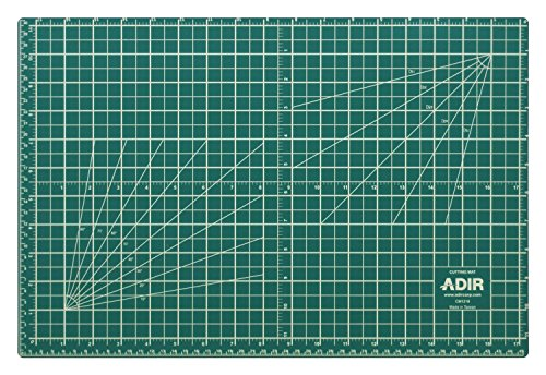Adir Professional Self Reversible Healing Cutting Mat, 18 by 24-Inch, Green/Black