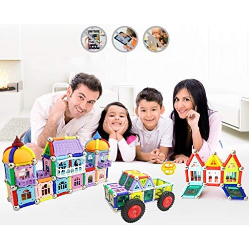 Tiges magnétiques éducatives pour enfants, jouets éducatifs de 3 à 14 ans, blocs de construction assemblés par intelligence magnétique, bâtiments éducatifs, jouets magnétiques empilables, blocs de c