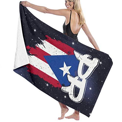 Ewtretr Toalla de Playa Puerto Rico PR Flag Boricua