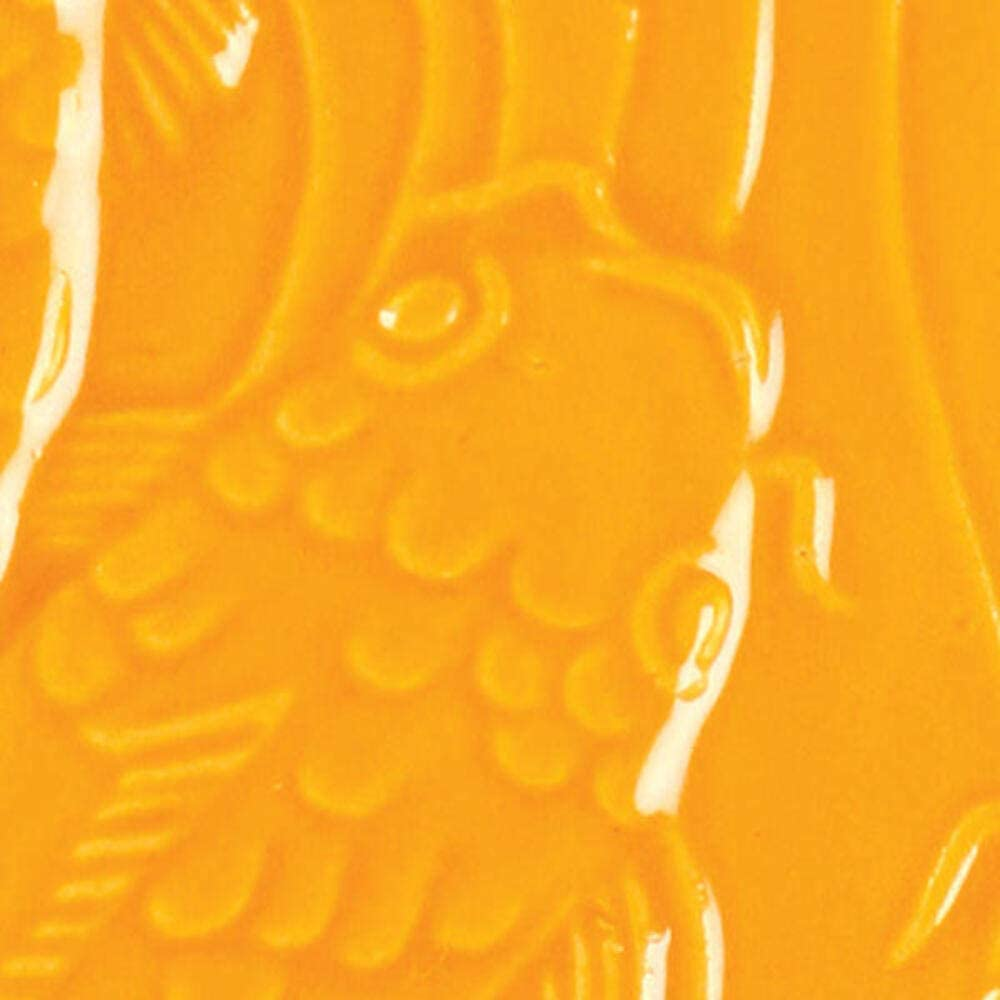 AMACO LG-68 Lead Sales for sale Free Liquid Orange Pint Gloss Glaze Max 80% OFF Vivid