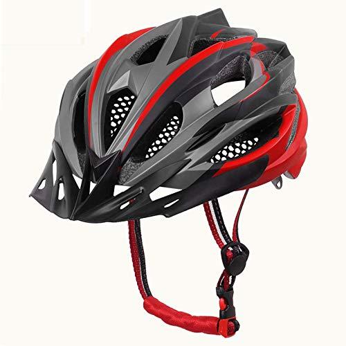 nohbi Spécialisés de Sécurité Casque de Vélo,Casques de Cycliste Outdoor pour Hommes et Femmes, Casques de vélo de Montagne - Rouge,Réglable Vélo Sport Casque