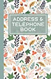 Address And telephone Book: Eye-catching Cover Design With Alphabetical Tabs, Great For Keeping Track Of Address And Telephone Number, City, State, Zip Code, Email