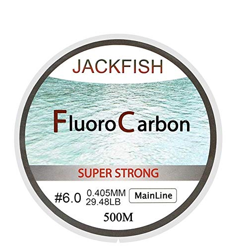 KDHJY 500M Fluorocarbon Angelschnur 5-32LB Test-Carbon-Faser-Leader-Linie 0.165-0.46mm Fly Fishing Line (Color : Clear Mainline, Size : 0.331MM 18.39LB)