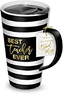 Lady Jayne One Travel Mug, 13 oz, Black, White, Gold