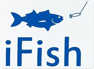 Glass Cutting Board Large iFish Fishing Fisherman